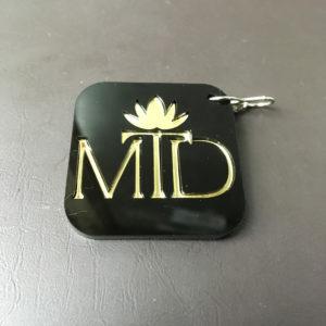 Jewellery shop logo keychain